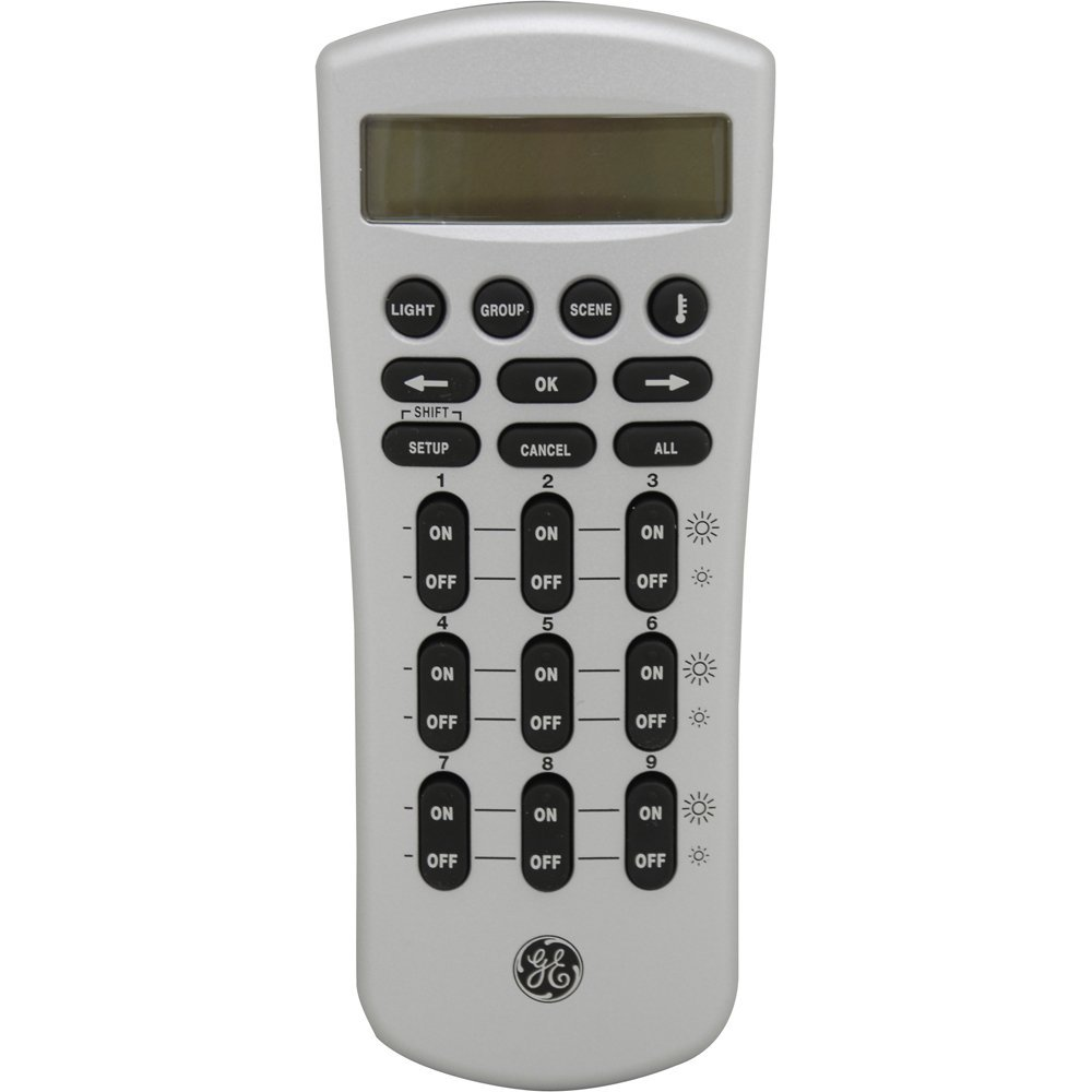GE 45601 Z-Wave Technology Wireless Lighting Deluxe LCD Remote Control