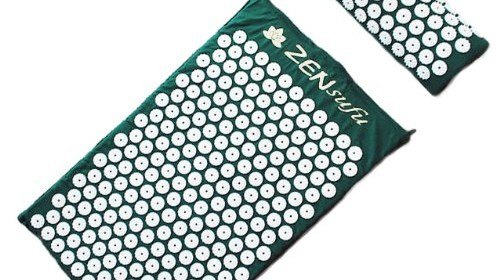 Zensufu Complete Acupressure Mat and Pillow Neck Back Massage Comfort Set with Carry Bag